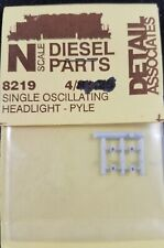 N Scale Diesel Loco Single Oscillating Headlight, 4 pc - Detail Associates #8219