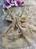 Unbranded beige sequins Camisole Top sleepwear nightwear size L