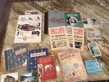 Vintage junk journal paper ephemera: postcards, old books, magazines, music, ads