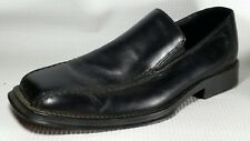 Kenneth Cole Reaction Real Simple Leather Loafers Mens 8.5 Med Black Dress Shoes