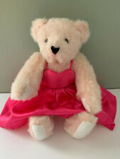 VERMONT TEDDY BEAR PINK  JOINTED TEDDY   15""