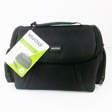 Vivitar VIV-DC-69 Large Gadget Camera Bag (Black) Carry On Water Resistant