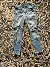 Euc Abercrombie & Finch Womens Size 25 Os Harper Low Rise Ankle Jeans Distressed