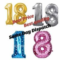 """16"""" Large 18th Birthday Party Number Age 18 Foil Balloon Air Decoration Balloons"""
