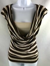 Eyeshadow Womens Juniors Top Size Small Cap Sleeve Low Cowl Front EUC A0302