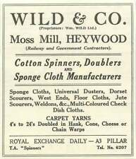 1955 Wild And Co-, Moss Mill, Heywood Cotton Spinners