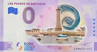 BILLET 0  EURO LES PHARES DE BRETAGNE  COULEUR  FRANCE  2021  NUMERO DIVERS