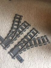 LEGO Train Track 9V Switch Points Pair L&R 4531 4512 Cargo Train City Vintage #1