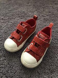 Converse Red Glitter Christmas Girls Size 8