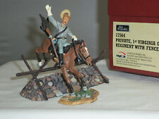 BRITAINS 17564 US 1ST VIRGINIA CAVALRY PRIVATE MOUNTED JUMPING FENCE TOY SOLDIER