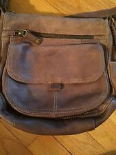 Fossil Brown Leather Crossbody Organizer Handbag