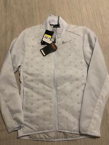 Nike Mens AeroLayer Running Jacket Reflective BV4874-085 White Gray