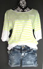Betty Barclay Top Shirt Bluse M L 40 NEU! weiß neon gelb oversize leger 3/4 Arm