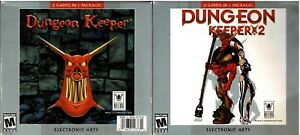 Dungeon Keeper & Dungeon Keeper 2 Pc Both Brand New Sealed DOS Win95 98 Wicked