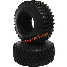 """2pcs New RC 1/10 100MM 1.9"""" Crawler Tires Tyres for tamiya cc01 F350 rc4wd Axial"""