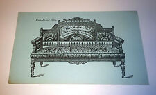 Antique Victorian Furniture Manufacturers Shaw, Applin! Advertising Trade Card!