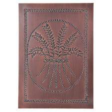Country new Solid Copper punched Wheat cabinet tin panel/ 10 x14/ nice
