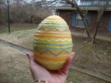 Large Candle Egg Easter Decor