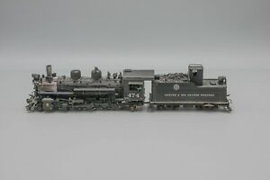 United Models HOn3 Brass D&RGW K-28 2-8-2 Steam Engine & Tender (Weathered)