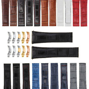 20MM LEATHER WATCH BAND STRAP FITS ALL ROLEX DAYTONA MODEL WATCH WITH ENDPIECES