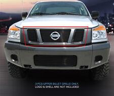 Fedar Fits 2008-2015 Nissan Titan Black Main Upper Billet Grille
