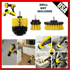 3PCS Drill Brush Kit For Car Home Carpet Wall Tile Cleaning Detailing Tool  USA