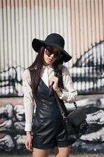 Zara Bloggers! Negro Piel Sintética cuello en V mono talla XS