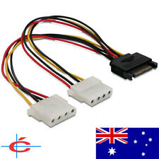 SATA (Male) to 2 Molex (Female) Power Cable / Converter / Splitter