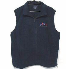 Polar Fleece Vest I'd Rather Be Bowling lawn bowls novelty NAVY XS S M L XL 2XL