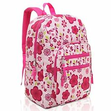 MGgear Pink / Purple Spring Flowers Pattern Daypack Backpack / School Bag