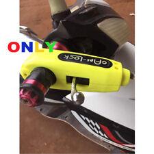 YELLOW Handlebar Grip Lock Brake Lever Security Anti Theft For Honda Scooter ATV