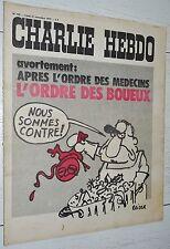 CHARLIE HEBDO N°106 27/11 1972 WOLINSKI CAVANNA CHORON REISER GEBE WILLEM CABU