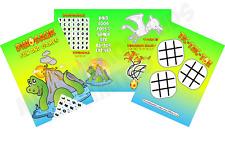 Pack de 12-Dinosaures Amusant Jeux et feuilles d'activité-Sac de Fête livres de comblement