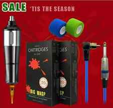 New Year Sale HUMMINGBIRD BRONC Tattoo Pen with Premium Cartridges Pack Supply