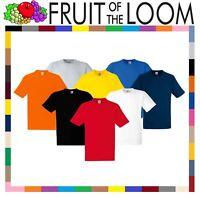 Fruit of the Loom 100% HEAVY COTTON Mens T-Shirt Plain Blank Short Sleeve Tshirt