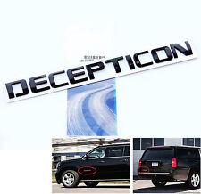 1x Origianl Black DECEPTICON EMBLEM Badge Letter 3D for F150 Silverado Tundra Lu