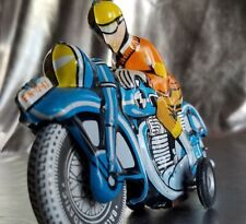 Tin Litho Friction Racing Motorcycle Toy. Ballon Cardatic L Foreign Racing Bike