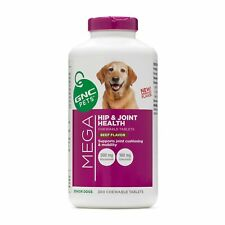 GNC Pets Ultra Mega Hip & Joint Health Chewable Tablets Dog Supplement, 300 C...