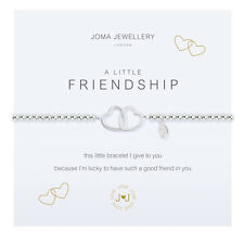 Joma Jewellery a Little Friendship Hearts Silver Plated Bracelet