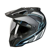 BMW Enduro Motorcycle road / Offroad Helmet Bullit Blue 59-60  #76318541863