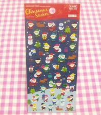 Christmas Colorful Santa Claus Sticker Sheet  / Made in Japan DAISO X'mas