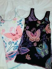 womens river island butterfly vest tops x 2 blk/white size xs