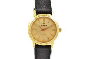 Vintage Rado Hand Winding Distinction Gold Plated ladies Watch 1212