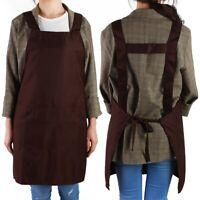 Kitchen Bar Waterproof Apron Dress Unisex Shoulder Strap Chef Cooking Apron