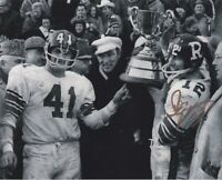 RUSS JACKSON  SIGNED OTTAWA RIDERS 1968 1969 GREY CUP  8X10 PHOTO PROOF