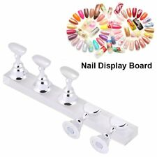 Nail Practice Train Display Stand False Nail Tip Rest Holder Magnetic Manicure