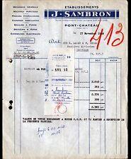 """PONT-CHATEAU (44) MATERIEL & MACHINES AGRICOLES """"J. SAMBRON"""" en 1948"""