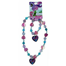 My Little Pony - Pink/Teal Heart Beaded Necklace/Bracelet Set - New