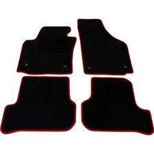 """SEAT Leon (1p) 09.2005-10.2012 velluto """"RED"""" Set di tappetini 4 PEZZI NUOVO"""