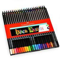 Faber-Castell Farbstifte - Schwarze Edition - Verschiedene Farben - Packung 24